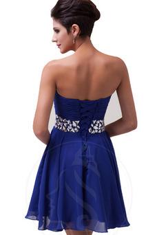 Vestido de noche Corto Sin tirantes Corte-A Natural Verano Blusa plisada