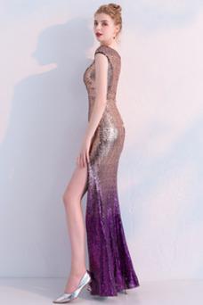 Vestido de fiesta Corte Sirena Hasta el Tobillo Tallas pequeñas Moderno
