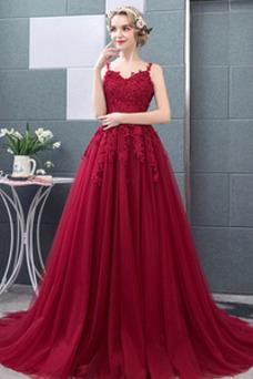 Vestido de novia Natural tul Capa Multi Espalda Descubierta Otoño Corte-A