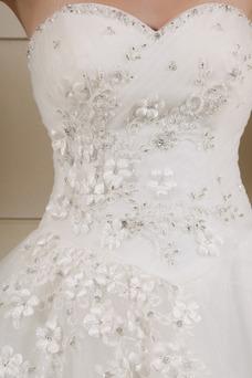 Vestido de novia Corte princesa Escote Corazón Elegante Cordón Apliques