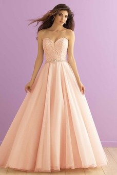 Vestido de novia Natural Cremallera Corte-A Escote Corazón primavera