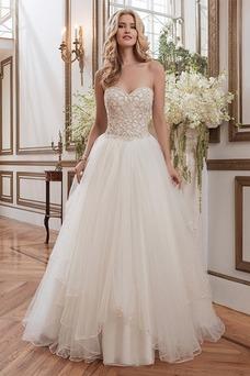 Vestido de novia Colores Fuera de casa Abalorio Espalda Descubierta