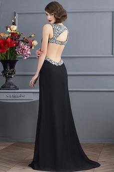 Vestido de fiesta Apertura Frontal Espalda Descubierta Corte Recto Tiras anchas