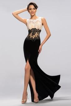 Vestido de noche primavera Elegante Capa de encaje Apliques Corte Sirena