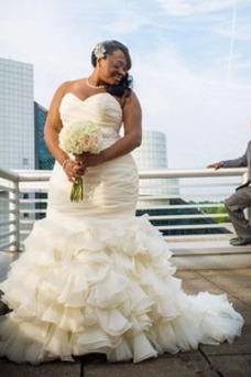 Vestido de novia Invierno Fuera de casa Escote Corazón Falta Cintura Baja