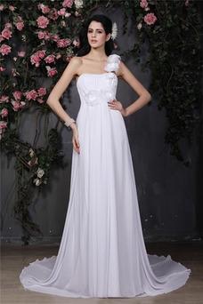 Vestido de novia Sencillo Sin mangas Verano Natural Corte-A Gasa