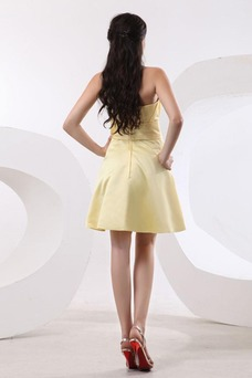 Vestido de dama de honor Sin mangas Reloj de Arena Corto Fuera de casa Cremallera