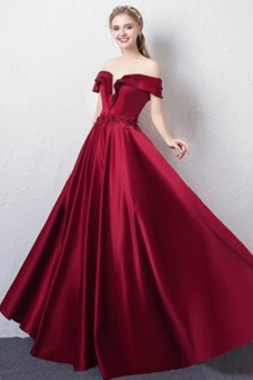 Vestido de fiesta Elegante Manga corta Drapeado Baja escote en V Cordón