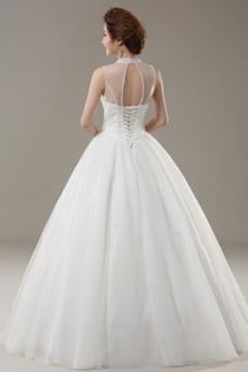Vestido de novia Pera Corte-A Sin mangas Playa Natural tul