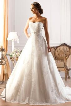 Vestido de novia Escote Corazón Corte princesa Cordón Apliques Formal