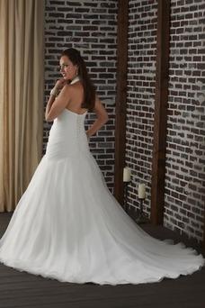 Vestido de novia Corte Sirena Escote halter Sala Sin mangas Formal Cristal