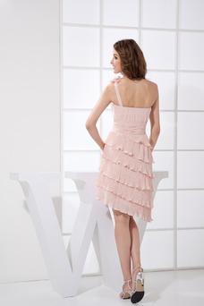 Vestido de dama de honor Asimétrico Estilo Falta Natural Espalda medio descubierto