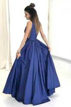 Vestido de fiesta Espalda Descubierta Sin mangas Corte-A Otoño Hasta el suelo