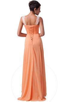 Vestido de noche Sencillo Falta Cordón Natural Corte-A Cola Barriba