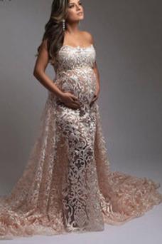 Vestido de novia Sin tirantes Capa de encaje Imperio Cintura Verano