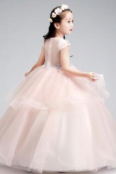 Vestido niña ceremonia Joya Natural Falta Formal Cremallera Apliques
