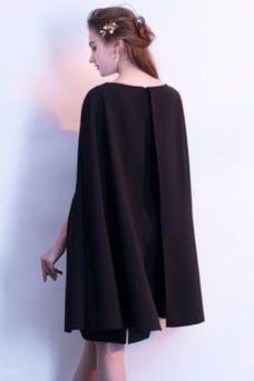 Vestido de cóctel Elegante Cremallera Escalonado Sin mangas Falta Barco