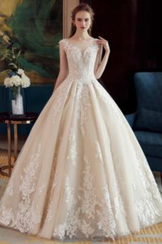 Vestido de novia Corte-A Espalda Descubierta Sin mangas Natural Sala
