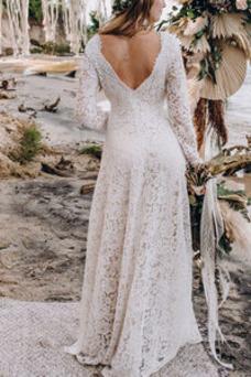 Vestido de novia Cremallera primavera Cola Barriba Imperio Imperio Cintura