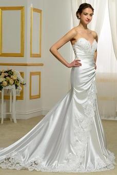 Vestido de novia Sin mangas Corte Sirena Sala Delgado Natural Escote Corazón