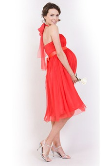 Vestido de noche Gasa Imperio Glamouroso Fuera de casa Extraíble Sash