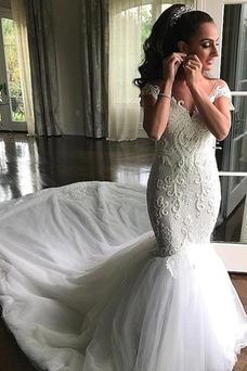 Vestido de novia Otoño Fuera de casa Sin mangas largo Abalorio Cremallera