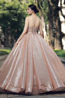 Vestido de fiesta Corte-A Estrellado Colores Hasta el suelo Natural Cordón