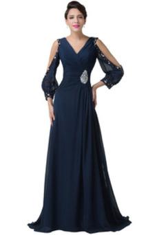 Vestido de noche Drapeado Corte-A Romántico Natural Rosetón Acentuado