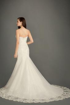 Vestido de novia Otoño Sin mangas Fuera de casa Encaje Natural Abalorio