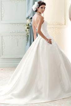 Vestido de novia Sin tirantes Cola Catedral Espalda Descubierta Encaje