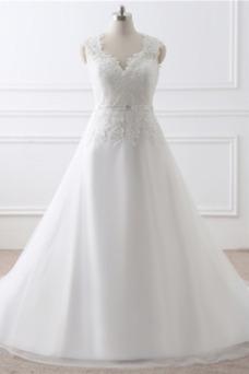 Vestido de novia Encaje Formal Natural Sala Pura espalda Encaje