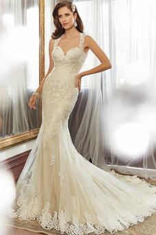 Vestido de novia Escote Corazón Sala Natural Cola Capilla Sin mangas