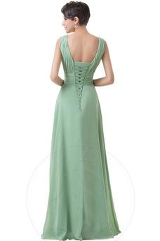 Vestido de dama de honor Corte-A Sencillo Espalda Descubierta Natural Hasta el suelo