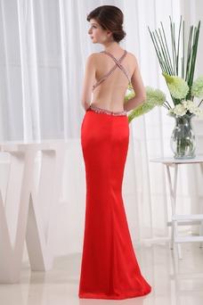 Vestido de fiesta Corte Sirena Espalda Descubierta Escote halter Moderno
