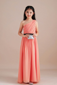 Vestido niña ceremonia Elegante Espalda medio descubierto Hasta el Tobillo
