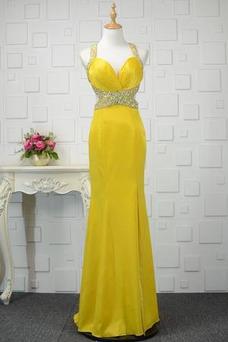 Vestido de fiesta Otoño Espalda Descubierta Natural Satén Elástico Corte-A