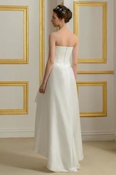 Vestido de novia Sin mangas Asimètrico Sin tirantes Volantes Adorno