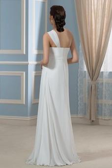 Vestido de novia Imperio Rosetón Acentuado Cremallera Blusa plisada