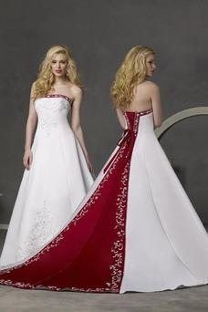 Vestido de novia Bordado Espalda medio descubierto Sala Elegante gris claro