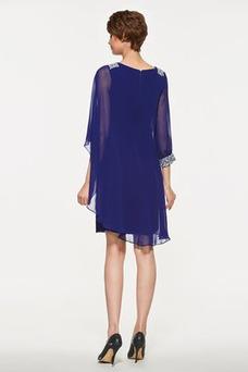 Vestido de madrina primavera Moderno Triángulo Invertido Natural Gasa