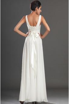 Vestido de noche Gasa Reloj de Arena Hasta el Tobillo 2015 Diosa vestido de novia