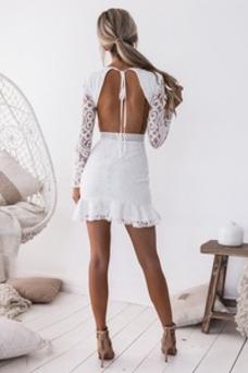 Vestido de cóctel Corto Joya Camiseta primavera tul Espalda Descubierta