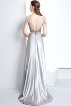 Vestido de noche Corte-A Natural Falta Espalda con ojo de cerradura