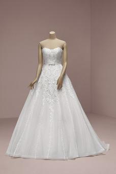 Vestido de novia Sencillo Hasta el suelo Fuera de casa Satén Sin tirantes