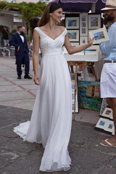 Vestido de novia Playa Arco Acentuado Imperio Natural Verano Sencillo