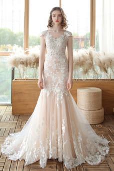 Vestido de novia Corte Sirena Falta Otoño Fuera de casa Cordón tul
