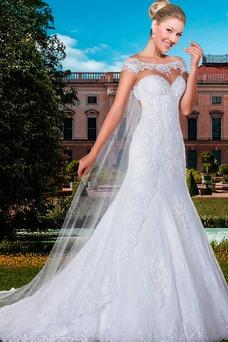 Vestido de novia Corte Sirena primavera Cremallera Sala Natural Encaje