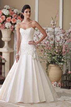 Vestido de novia Espalda Descubierta Encaje Natural Otoño Cola Capilla