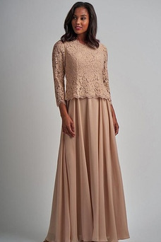 Vestido de madrina Cremallera Formal Natural Joya Camiseta Corte-A