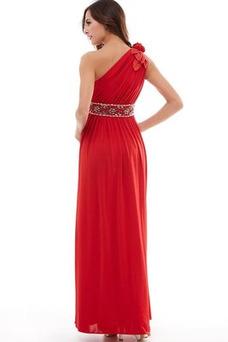Vestido de fiesta Elegante Plisado Natural Corte-A Hasta el Tobillo Espalda medio descubierto